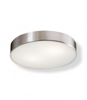 Plafón DINS 2 bombillas E27 en níquel Ø26cm - ACB