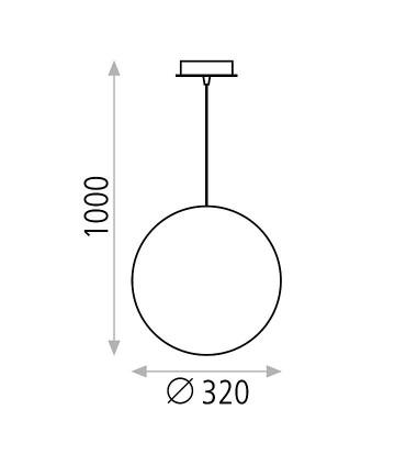Dimensiones: Ciro E27 globo  Ø32 - ACB