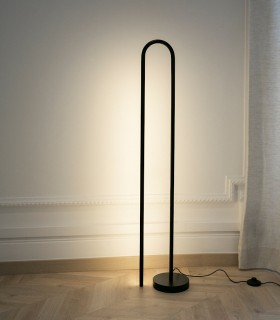 Lámpara de pie BOW negro 120cm - NEXIA