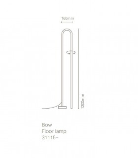 Dimensiones Lámpara de pie BOW negro 120cm - NEXIA