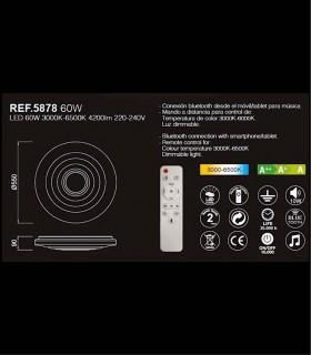 Plafón ONDAS MUSIC Bluetooth 55cm, 5878 de Mantra Iluminación. Especificaciones.