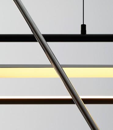 Detalle Lámpara de techo BOW negro 120cm - NEXIA