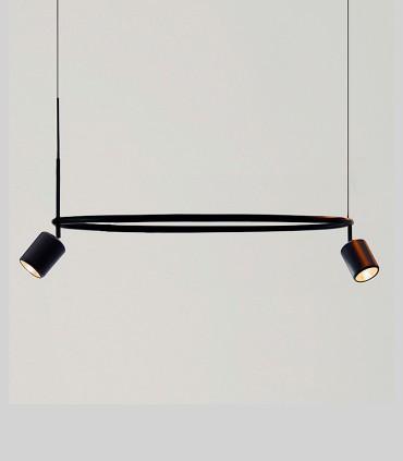 Lámpara de techo AROS Single negro Ø82cm - NEXIA