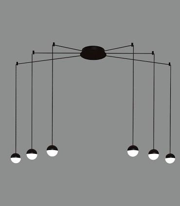 Lámpara Colgante CUSTO 6 LED negro - ACB