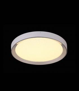 Plafón redondo MALE LED 24w 50cm cromo c/mando 5923 de Mantra