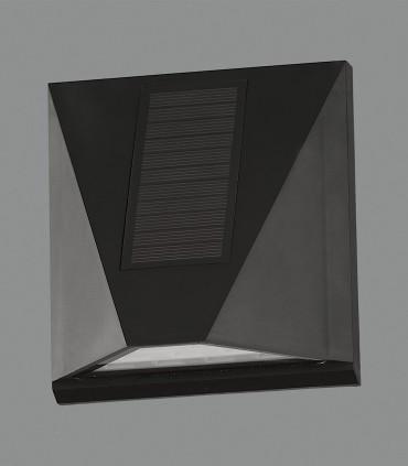Aplique Solar VULCAN con sensor 3W LED 3000K Negro IP65 - ACB