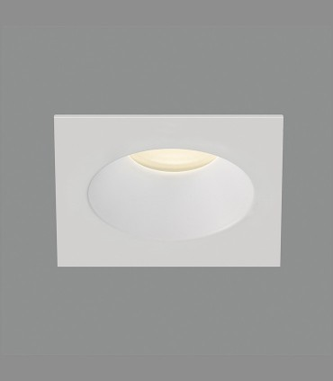 Aro empotrable cuadrado VELT GU10 Blanco IP64 - ACB