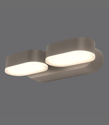 Aplique Kansas LED 3000K negro IP54 - ACB