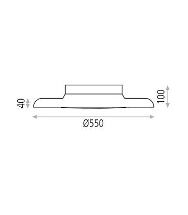 Dimensiones Plafón LED SHIITAKE 3000K negro-oro - ACB