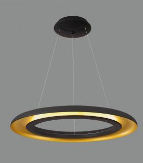 Plafón LED SHIITAKE 3000K negro-oro - ACB