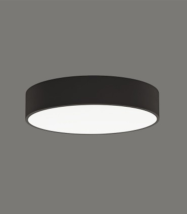 ISIA plafón de techo LED negro Ø40cm - ACB
