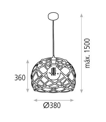 Dimensiones Lámpara colgante BELLONA Ø38 - ACB