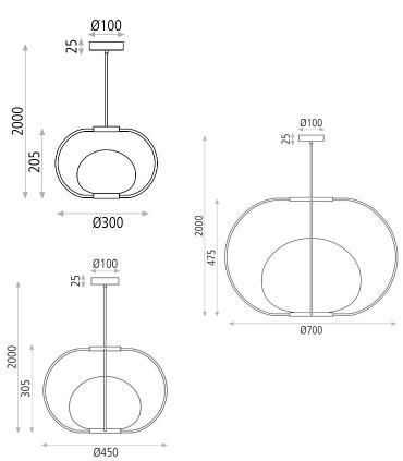 Dimensiones de lámparas Marina - ACB