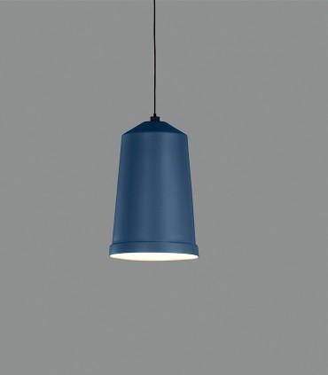 Lámpara colgante Bali azul brillante