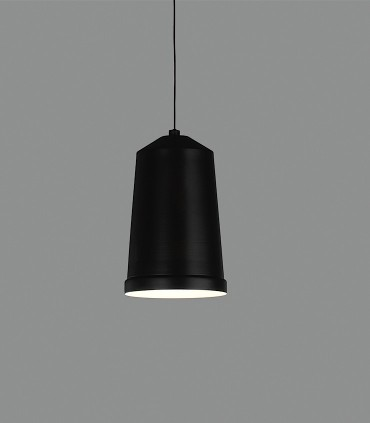 Lámpara colgante Bali negro intenso