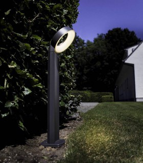Baliza exterior led 14w gris oscuro 73cm 800lm