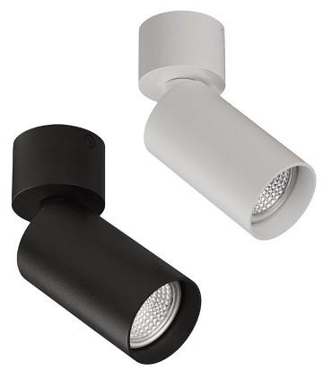Foco superficie ZOOM blanco o negro GU10 orientable Ø56mm - ACB