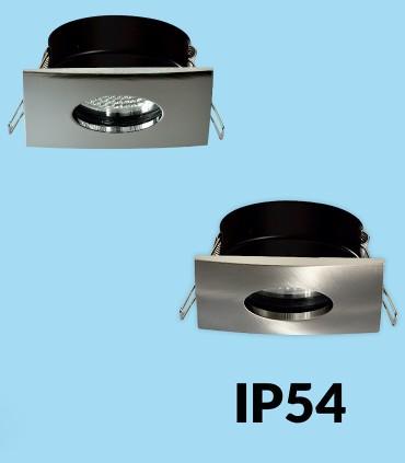 Aros empotrables FOTSY para bombilla GU10 Cromo - níquel IP54 - ACB