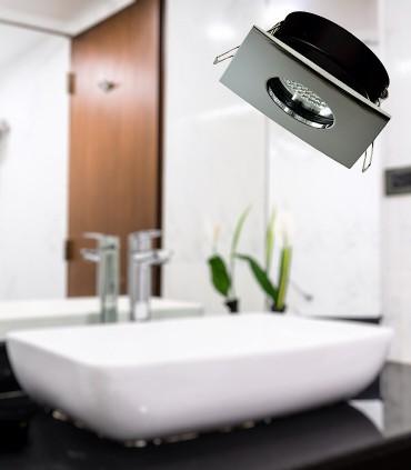 Aro empotrable para baño FOTSY GU10 Cromo brillo IP54 - ACB