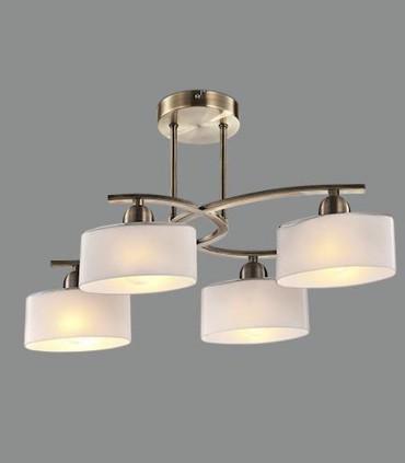 Lámpara semiplafón XOLA  cuero 4L E14 - ACB