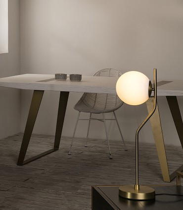 Lámpara sobremesa MAUI oro E27 LED - ACB