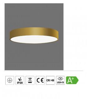 Características ISIA plafón de techo LED oro Ø40cm - ACB