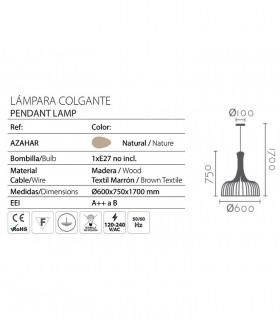 Características lámpara Azahar Ø61cm