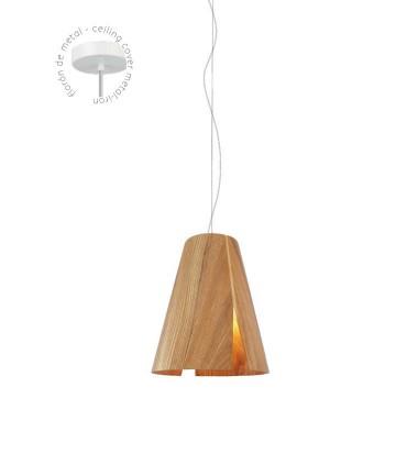Detalle florón Lámpara de techo madera ABEDUL Ø24cm