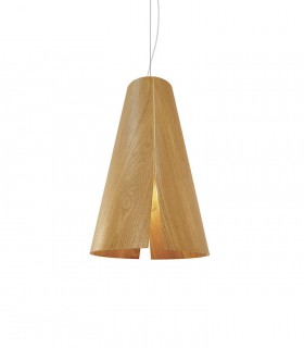 Lámpara de techo madera PEONIA Ø30cm