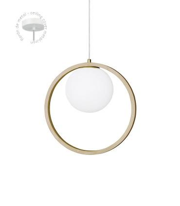 Detalle florón lampara MD2416-NAT