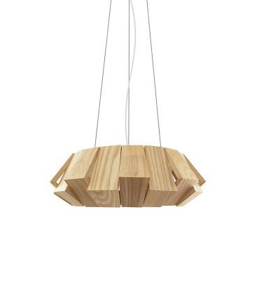 Lámpara colgante madera PALMERA LED 18W Ø40cm