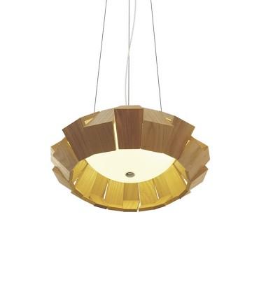 Vista inferior lámpara de madera Palmera LED
