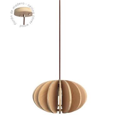 Lámpara colgante madera CHOPO Ø29cm