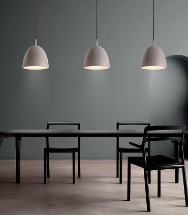 Ambiente con 3 lamparas Enon de cemento ACB