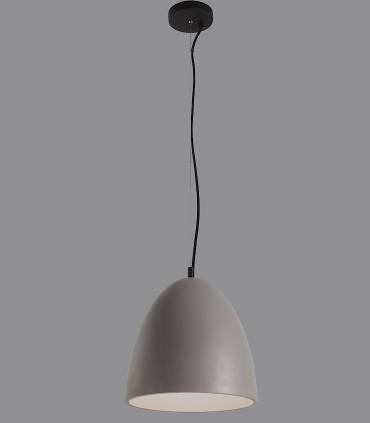 Lámpara colgante cemento gris ENON E27 Ø30cm - ACB