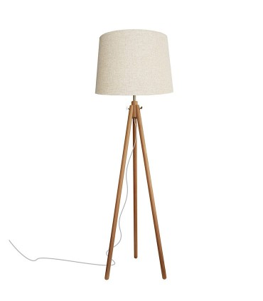 Lámpara de pie madera 3 patas Azalea