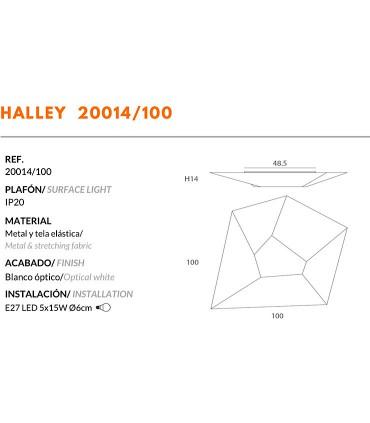Plafón/aplique de Tela HALLEY E27 100cm - Ole by FM