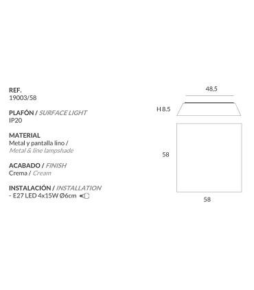 Características Cleo 58cm 4 luces