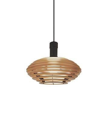 Lámpara colgante madera AZUCENO Ø39cm E27