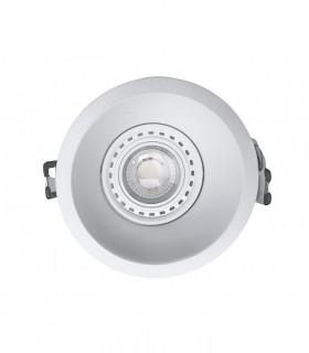 Aro Foco Empotrable COMFORT GU10 Blanco Mate Redondo C0160 Mantra (bombilla Mantra 8W GU10 no incluida)