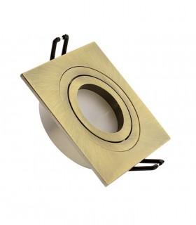 Aro foco empotrable Helium cuadrado oro viejo GU10