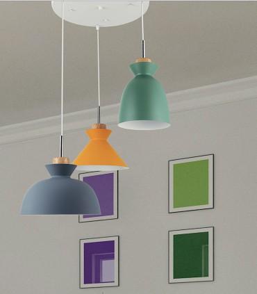 Lámpara colgante Bergen Multicolor 3 luces Jueric