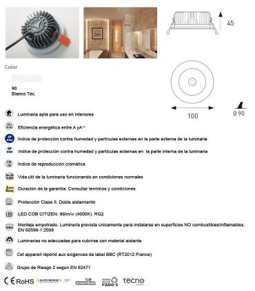 Características Downlight LED Estanco IP65 Waterlight PRO 11W - 550 JISO