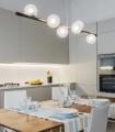Lámpara de techo OH LA LA! Lineal Esferas L14563/6 MARRÓN - Tulipa satinado - Renzo Del Ventisette