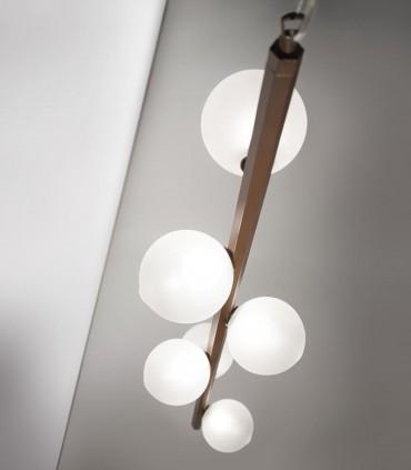 Lámpara de techo OH LA LA! Vertical Esferas marrón tulipa satinado S14563/6 - Renzo Del Ventisette