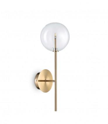 Aplique esfera transparente EQUINOXE G4 Latón IDEAL LUX