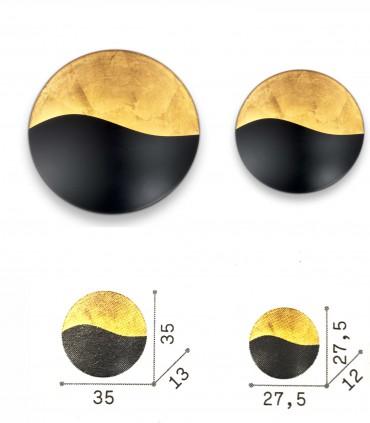 Dimensiones: Aplique SUNRISE G9 Negro-oro - IDEAL LUX
