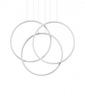 Lámpara de techo FRAME LED Círculos 82W blanco IDEAL LUX
