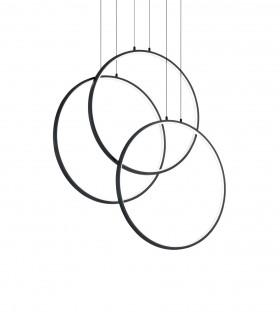 Lámpara de techo FRAME LED Círculos 82W negro - IDEAL LUX