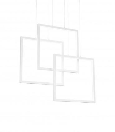 Lámpara de techo FRAME LED Cuadrados 80W blanco - IDEAL LUX